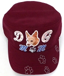 Wholesale Rhinestone Castro Caps - Dog Mom - Burgundy