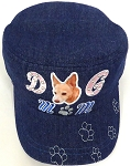 Wholesale Rhinestone Castro Caps - Dog Mom -  D. Denim