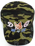 Wholesale Rhinestone Castro Caps - Dog Mom - Green Camo