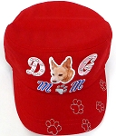 Wholesale Rhinestone Castro Caps - Dog Mom -  Red