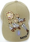 Native Pride Hats Wholesale - The Dream Catcher  - Khaki