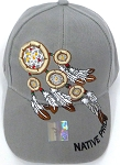 Native Pride Hats Wholesale - The Dream Catcher  - Grey