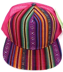 Wholesale Mesh Trucker 5 Panel Snapback Hats - Aztec - 1