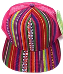 Wholesale Mesh Trucker 5 Panel Snapback Hats - Aztec - 2