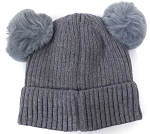 Infant/Baby Ears Beanie k-89 - Grey