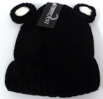 Infant/Baby Ears Beanie k-90 - Black