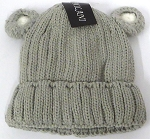 Infant/Baby Ears Beanie k-90 - Grey