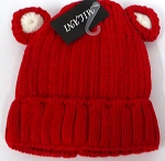 Infant/Baby Ears Beanie k-90 - Red