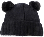 Infant/Baby Ears Beanie k-88 - Black
