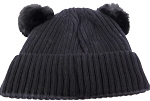 Infant/Baby Ears Beanie k-89 - Black