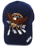 Wholesale Native Pride Baseball Cap -  Eagle - Arrow- Navy