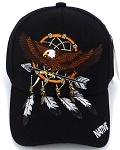 Wholesale Native Pride Baseball Cap -  Eagle - Arrow- Black