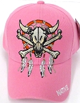 Wholesale Native Pride Baseball Cap -  Skull - Pink