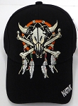 Wholesale Native Pride Baseball Cap -  Skull - BLACK