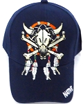 Wholesale Native Pride Baseball Cap -  Skull - Navy