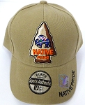 Wholesale Native Pride Baseball Cap -  Buffalo -  Khaki
