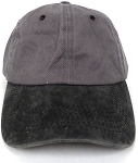 Pigment Dyed  Cotton Plain Baseball Cap - Gold Metal Buckle - D.Grey Black