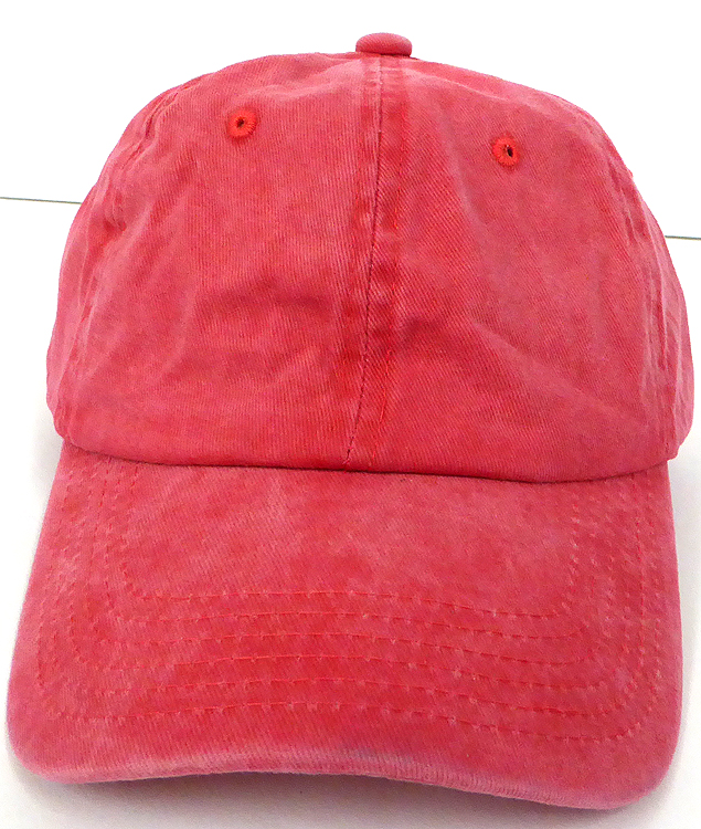 Pigment Dyed Cotton Plain Baseball Cap - Gold Metal Buckle - Solid ... 542bea0bf78