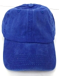 Pigment Dyed  Cotton Plain Baseball Cap - Gold Metal Buckle - Solid Royal Blue