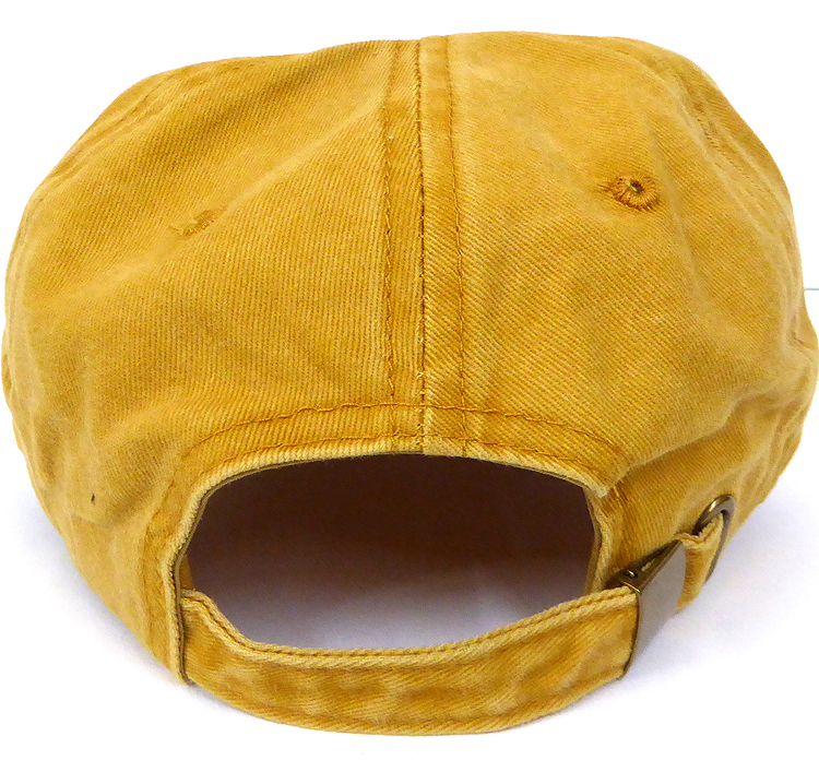 Pigment Dyed Cotton Plain Baseball Cap - Gold Metal Buckle - Solid ... fd4539f52d0