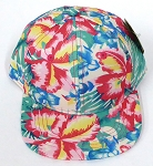 INFANT Baby Blank Snapback Hats & Caps Wholesale Hawaiian Flower  - Khaki Tone