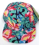 INFANT Baby Blank Snapback Hats & Caps Wholesale Hawaiian Flower  - Navy Tone