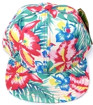 KIDS Jr. Snapback Hats Wholesale - Khaki  Hawaiian Hibiscus
