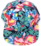 KIDS Jr. Snapback Hats Wholesale - Navy Tone Hawaiian Hibiscus - Solid