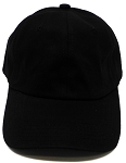 Regular 100% Cotton Plain Baseball DAD Cap - Gold Metal Buckle - Black