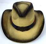 Cowboy Straw Hat Wholesale - American Patriot - USA Eagle under brim