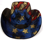 Cowboy Straw Hat Wholesale - American Patriot - Vintage USA Flag
