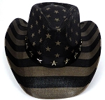 Cowboy Straw Hat Wholesale - American Patriot - Vintage Black