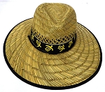 Summer Straw Hats Wholesale - Turtles Black Band