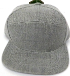 Blank 7 Panel  Hats/Caps Wholesale - Solid Denim Grey