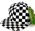 INFANT Snapback Hats Wholesale - Black Checkered Art Design