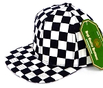INFANT Snapback Hats Wholesale - NAVY Checkered Art Design