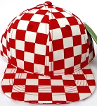 KIDS Jr. Snapback Hats Wholesale - RED Checkered Art Design