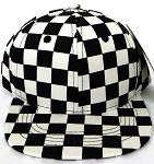 KIDS Jr. Snapback Hats Wholesale - Black Checkered Art Design (sale until 10/10)