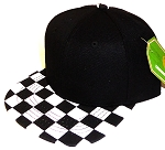 INFANT Snapback Hats Wholesale - Black / BK Checkered Art Design