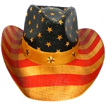 Cowboy Hat Wholesale - American Patriot - Straw and Belt - Vintage Brown