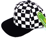 INFANT Snapback Hats Wholesale -  BK Checkered Art Design  / Black