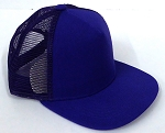 KIDS Junior Plain Trucker Snapback Caps - Purple