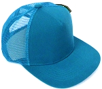 KIDS Junior Plain Trucker Snapback Caps - Turquoise