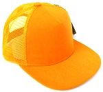 KIDS Junior Plain Trucker Snapback Caps - Gold