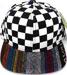 KIDS Jr. Snapback Hats Wholesale -  bk Checkered Art Design    aztec str 01