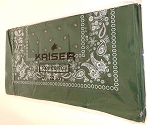 Paisley Bandana 100% Cotton Wholesale  (Dozen Packed) - Dark Green