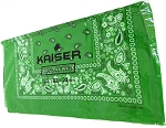 Paisley Bandana 100% Cotton Wholesale  (Dozen Packed) - Kelly Green,