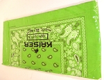 Paisley Bandana 100% Cotton Wholesale  (Dozen Packed) - Lime Green