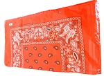 Paisley Bandana 100% Cotton Wholesale  (Dozen Packed) - Orange,