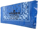 Paisley Bandana 100% Cotton Wholesale (Dozen Packed) - Turquoise Blue,